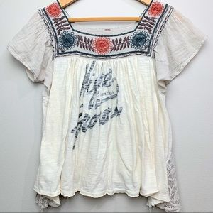 """Free People """"Higher Ground"""" Baby Doll Floral Top"""